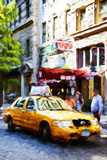 Manhattan Taxi III - In the Style of Oil Painting Giclee Print by Philippe Hugonnard