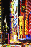 Times Square Night III - In the Style of Oil Painting Giclee Print by Philippe Hugonnard
