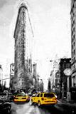 Taxis on Fifth Avenue Giclee Print by Philippe Hugonnard