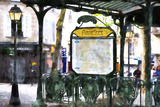 Abbesses Subway Paris Giclee Print by Philippe Hugonnard