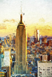 Empire State Sunset III - In the Style of Oil Painting Giclée-tryk af Philippe Hugonnard
