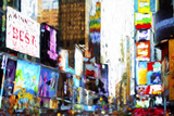 Times Square III - In the Style of Oil Painting Giclee Print by Philippe Hugonnard