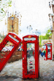 Phone Booths - In the Style of Oil Painting Giclee Print by Philippe Hugonnard
