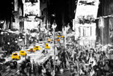 NYC Taxis - In the Style of Oil Painting Giclee Print by Philippe Hugonnard