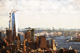 1WTC Skyline - In the Style of Oil Painting Giclee Print by Philippe Hugonnard