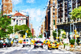 NYC Urban Scene - In the Style of Oil Painting Giclee Print by Philippe Hugonnard