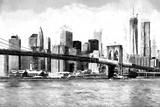 New York Cityscape Giclée-tryk af Philippe Hugonnard