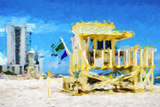 South Beach Miami IV - In the Style of Oil Painting Giclee Print by Philippe Hugonnard