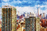 New York Skyline V - In the Style of Oil Painting Giclee Print by Philippe Hugonnard