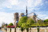Paris Notre Dame II - In the Style of Oil Painting Giclee Print by Philippe Hugonnard