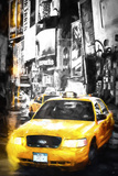 Yellow Taxi Giclee Print by Philippe Hugonnard