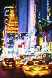 NYC Urban Night - In the Style of Oil Painting Giclee Print by Philippe Hugonnard