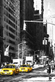 Two NYC Taxis Giclee Print by Philippe Hugonnard