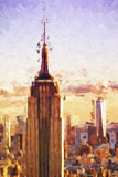 Empire State Sunset II - In the Style of Oil Painting Giclee Print by Philippe Hugonnard
