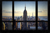 Manhattan View from the Window Giclee Print by Philippe Hugonnard