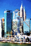 New York Skyscrapers - In the Style of Oil Painting Giclee Print by Philippe Hugonnard