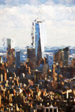 1WTC Skyline II - In the Style of Oil Painting Giclee Print by Philippe Hugonnard
