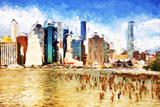 Manhattan Island II - In the Style of Oil Painting Giclee Print by Philippe Hugonnard