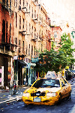 Manhattan Taxi - In the Style of Oil Painting Giclee Print by Philippe Hugonnard