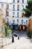 Paris Montmartre III - In the Style of Oil Painting Giclee Print by Philippe Hugonnard