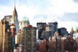 New York Skyscrapers III Giclee Print by Philippe Hugonnard