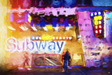 Subway - In the Style of Oil Painting Giclee Print by Philippe Hugonnard