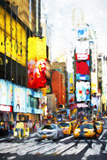 Crosswalk Times Square - In the Style of Oil Painting Giclee Print by Philippe Hugonnard