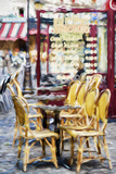 Paris Brasserie - In the Style of Oil Painting Giclee Print by Philippe Hugonnard