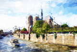 Paris Notre Dame - In the Style of Oil Painting Giclee Print by Philippe Hugonnard