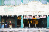 Coney Island Subway - In the Style of Oil Painting Giclee Print by Philippe Hugonnard