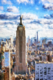 Empire Skyline - In the Style of Oil Painting Giclee Print by Philippe Hugonnard