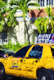Miami Yellow Cab - In the Style of Oil Painting Giclee Print by Philippe Hugonnard