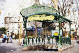 Subway Entrance II - In the Style of Oil Painting Giclee Print by Philippe Hugonnard