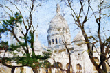 Sacre Cœur Basilica II - In the Style of Oil Painting Giclee Print by Philippe Hugonnard
