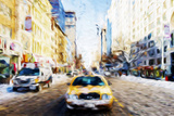 Yellow Snow - In the Style of Oil Painting Giclee Print by Philippe Hugonnard
