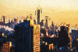 1WTC agains day - In the Style of Oil Painting Giclee Print by Philippe Hugonnard