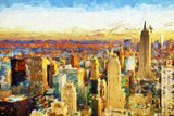 New York City V - In the Style of Oil Painting Giclee Print by Philippe Hugonnard