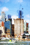 Manhattan Buildings V - In the Style of Oil Painting Giclee Print by Philippe Hugonnard