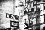 Fashion Avenue Sign Giclee Print by Philippe Hugonnard