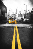 Yellow Lines Giclee Print by Philippe Hugonnard