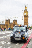 London Taxis II - In the Style of Oil Painting Giclee Print by Philippe Hugonnard