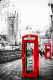 Dual Phone Booths - In the Style of Oil Painting Giclee Print by Philippe Hugonnard