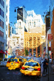 Midtown New York - In the Style of Oil Painting Giclee Print by Philippe Hugonnard