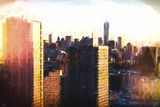 Manhattan Sunset Colors Giclee Print by Philippe Hugonnard