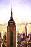 Top of the Empire State Building at Sunset Giclee Print by Philippe Hugonnard
