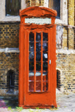 Orange Phone Booth - In the Style of Oil Painting Giclee Print by Philippe Hugonnard