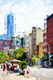 NYC Urban Scene IV - In the Style of Oil Painting Giclee Print by Philippe Hugonnard