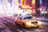 Snow Storm - In the Style of Oil Painting Giclee Print by Philippe Hugonnard