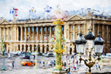Paris Urban Scene - In the Style of Oil Painting Giclee Print by Philippe Hugonnard