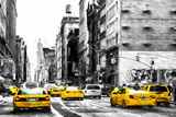 NYC Taxi Cabs Giclee Print by Philippe Hugonnard
